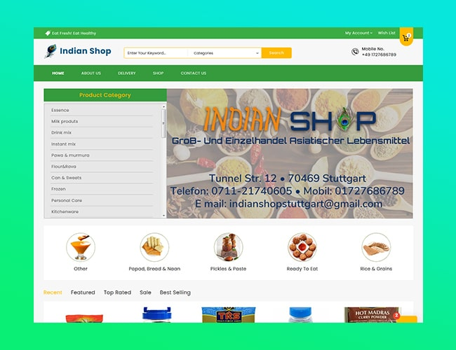 Grocery E-Commerce Website