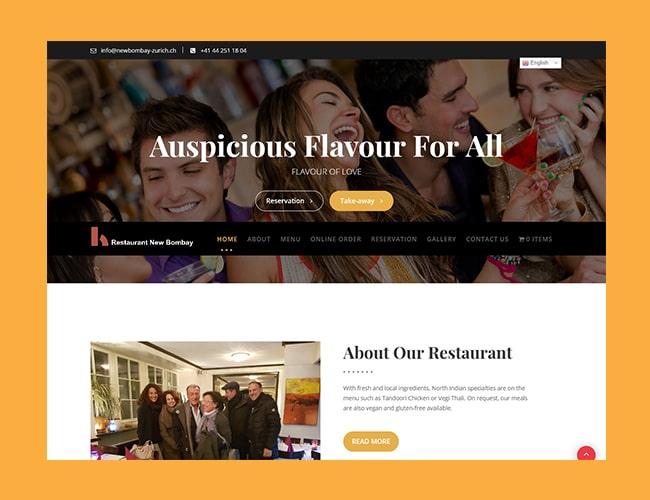 New Bombay- Restaurant Website