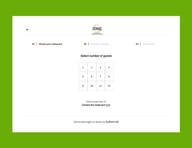 Plugin for Table Reservation